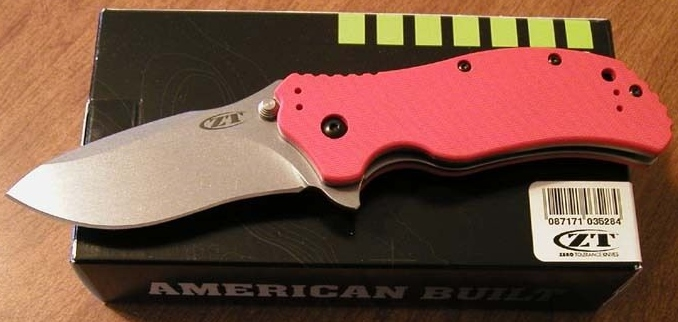 Zero Tolerance 0350 Plain Edge S30V Blade/Orange G-10 Tactical Knife