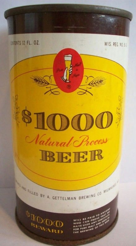 1000 Natural Process Beer Flat Top Can