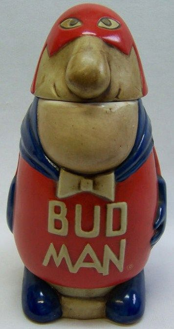 Anheuser Busch Bud Man 1975 Figural Character Beer Stein