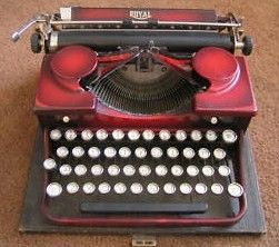 Royal Duo Red Typewriter Red Color 1930's