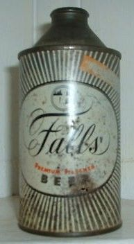 Falls City Cone Top Beer Can