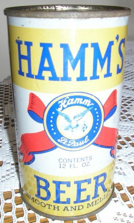 Hamms Steel Flat Top Vintage Beer Can