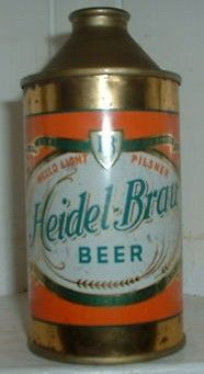 Heidel Brau Cone Top Beer Can