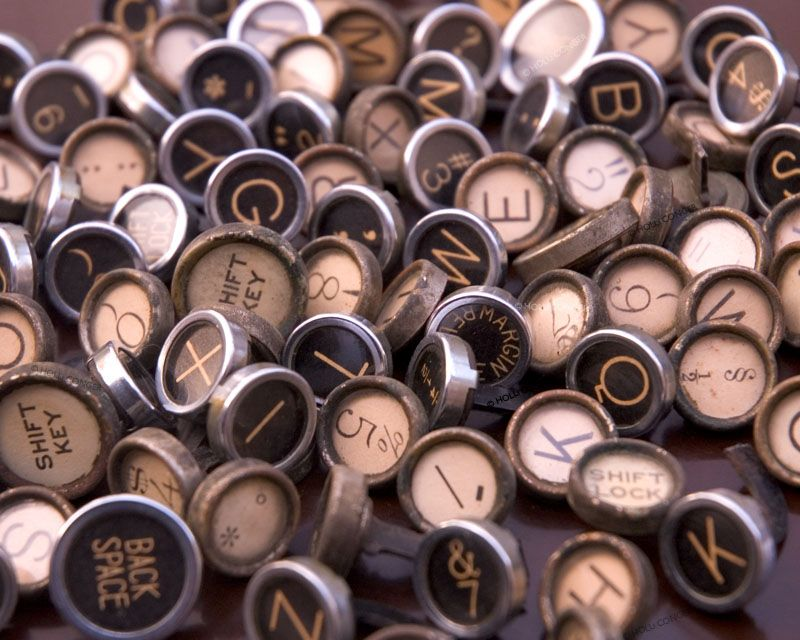 Assortment of Vintage Typewriter Keys