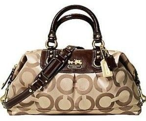 Coach OP Art Sabrina Purse Khaki