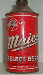 Maier Select Cone Top Beer Can