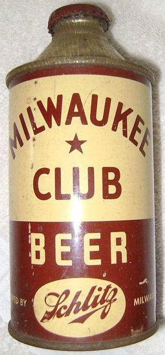Oil Cone Top Milwaukee Club Beer Can
