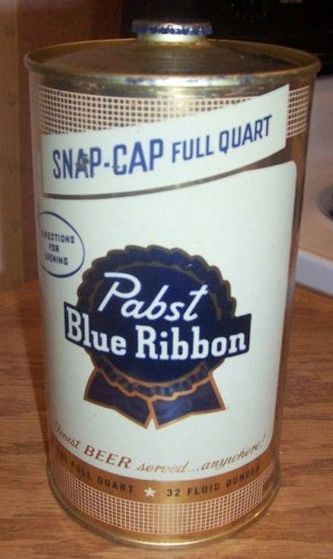 Pabst Blue Ribbon Cone Top 1 Quart Beer Can