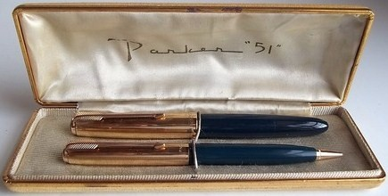 Parker 51 Pen Set 1947-1948 Dark Blue