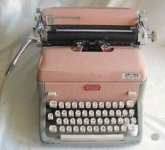 Pink Typewriter Royal Mid Century