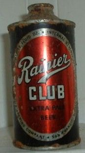 Rainier Club Cone Top Beer CAn