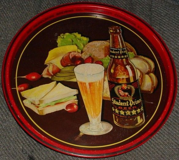 Vintage 1930 beer tray Student Prince Covington, KY