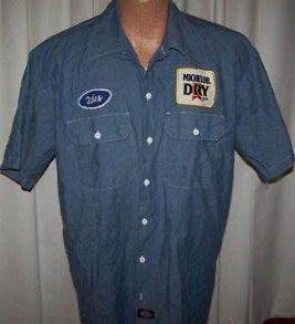 Vintage Michelop Beer Delivery Garage Work Uniform