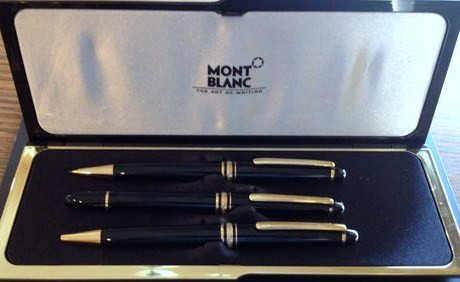 Vintage Montblanc Meisterstuck Writing Instrument Set/Ballpoint-Rollerball-Pencil