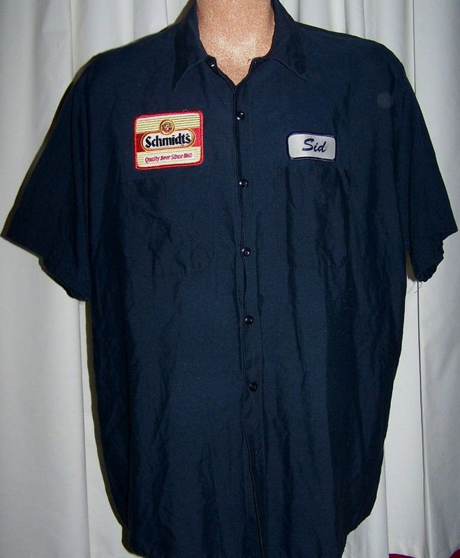Vintage Schmidt's Beer Work Delivery Driver Uniform