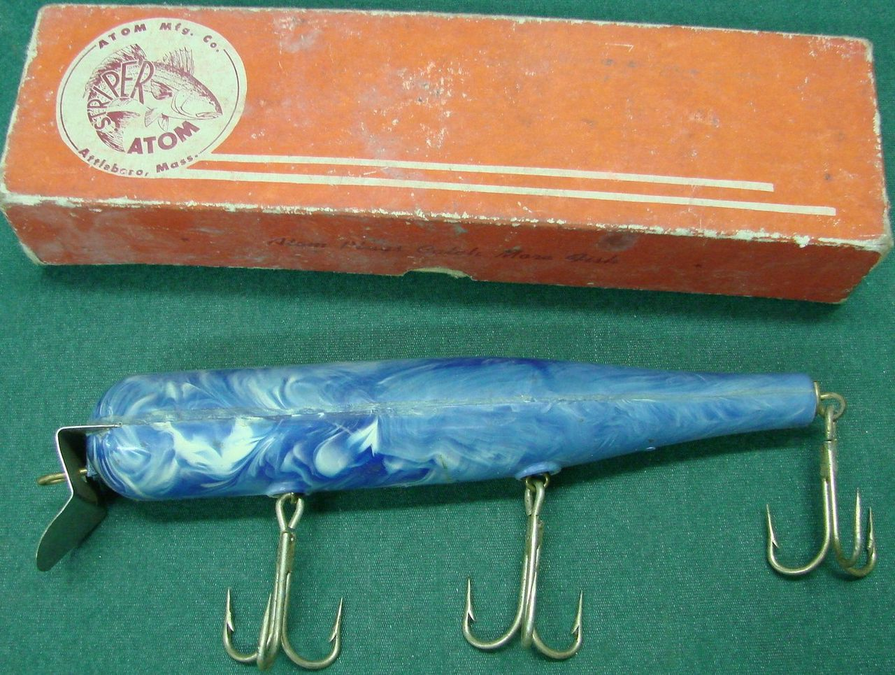 Vintage Striper Atom Saltwater Fishing Lure