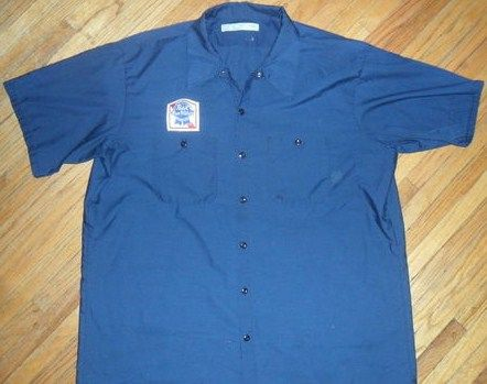 Vintage Pabst Blue Ribbon Workshirt Beer Delivery Guy Uniform w Patch