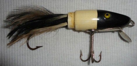 Wood Moonlight Paw Paw Feather Minnow Bait