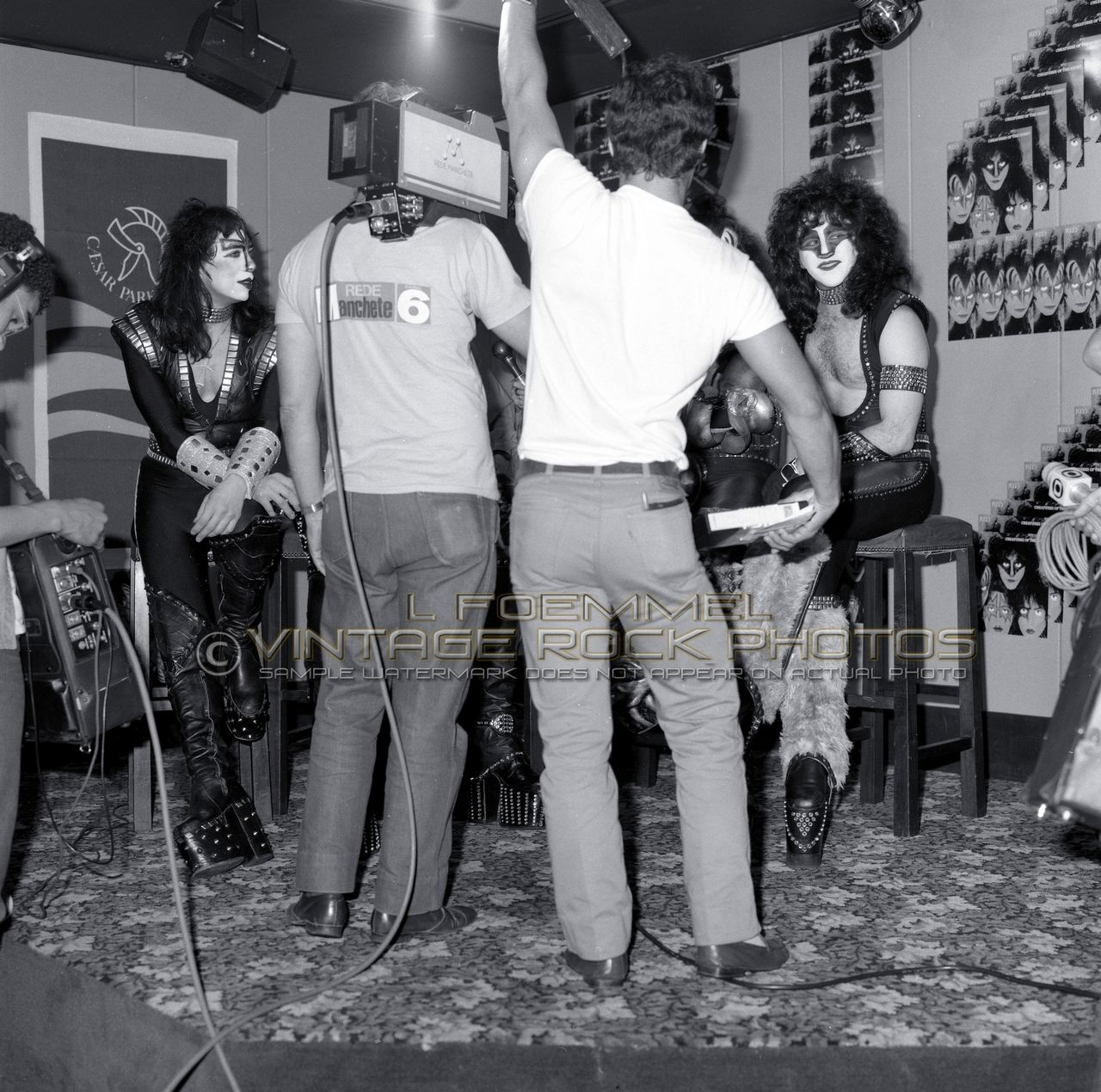 kiss 16x20 inch poster size photos set of 6 candid 83