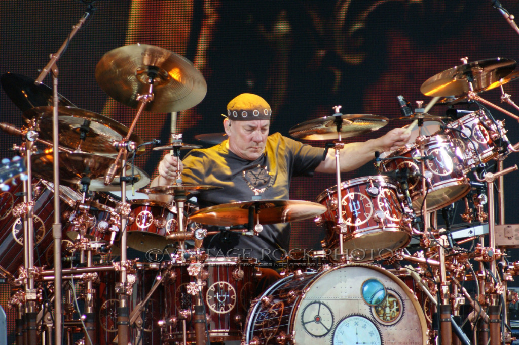 neil peart rush 24x36 inch poster size photo live concert