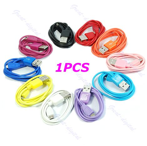 USB-2-0-Charger-Charging-To-Micro-5-Pin-Data-Cable-For-Mp3-Cell-Phone-10-Colors