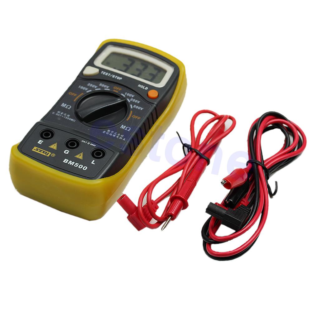 Digital-Insulation-BM500-500V-1999M-Resistance-Megohmmeter-Megger-Tester-Meter