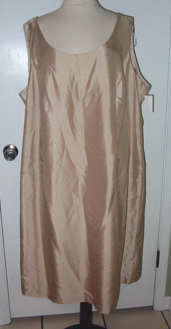 Jessica Howard Beige 2 PC Dress Jacket Sz 24W NWTG $168