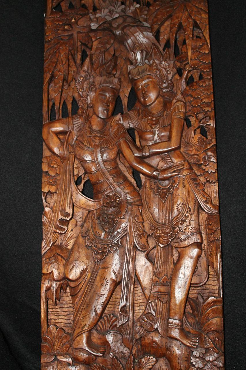 Balinese rama sinta sita ramayana panel bali carved