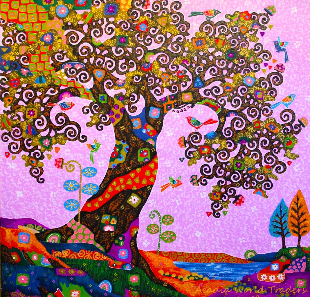the subject is tree of life the artist is inspired by the style of artist gustav klimt