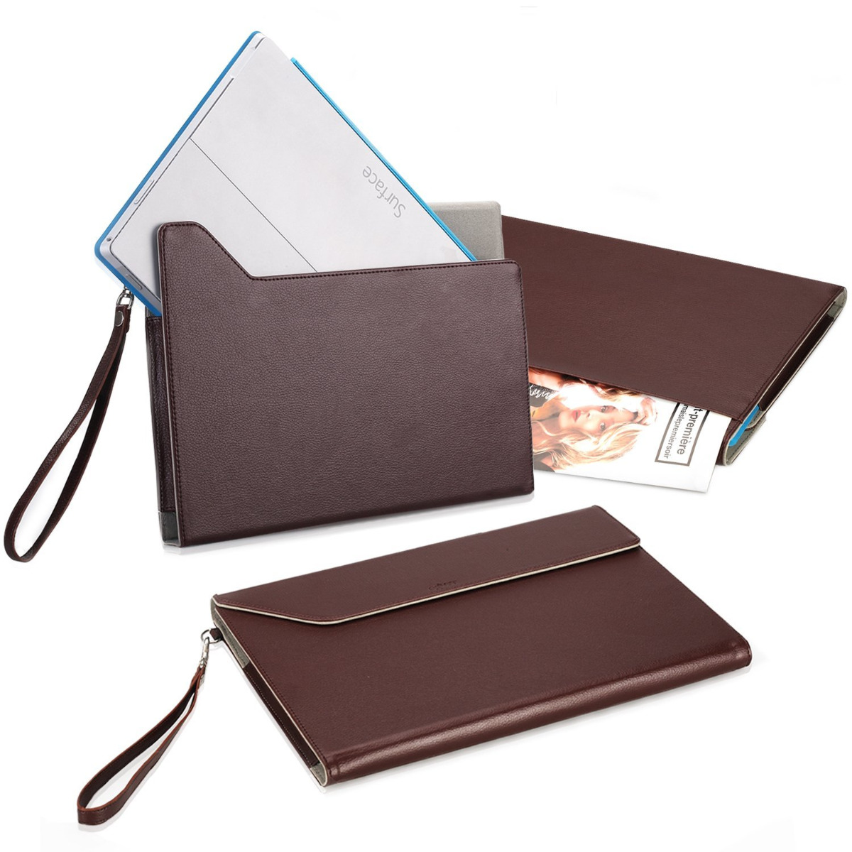 Pro 3 tablet sleeve case slim wallet pu leather protective skin pouch - Exact Express Pu Leather Envelope Sleeve Case For Microsoft Surface Pro 3 2014 Surface Pro 4 2015 Apple Ipad Pro 2015
