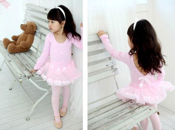Girls-Pink-Party-Leotard-Ballet-Dance-Fairy-Costume-Dress-Tutu-Skirt-SZ-3-8Y