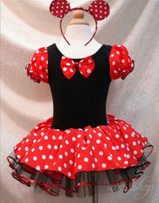 Xmas-Disney-Minnie-Mouse-Girl-Kids-Birthday-Pary-Costume-Ballet-Tutu-Dress-2-10Y