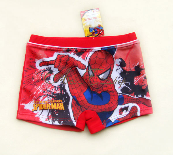 Boys-NWT-Marvel-Spider-Man-Swimsuit-Swimwear-Trunks-Swim-Shorts-Size-2-3-4-5-6