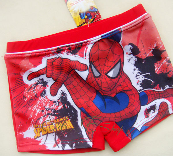 Boys-NWT-Marvel-Spider-Man-Swimsuit-Swimwear-Trunks-Swim-Shorts-Size-2-3-4-5-6