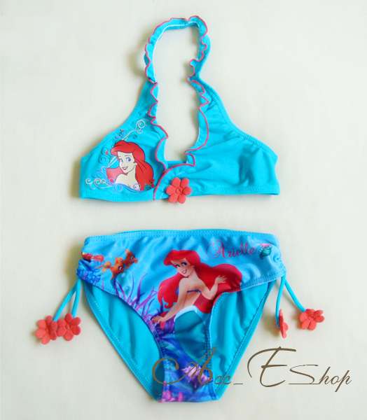 GIRLS-PRINCESS-ARIEL-MERMAID-SWIMMING-SWIM-COSTUME-TANKINI-BIKINI-AGES-2-8-YEARS