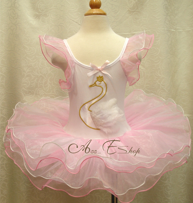 Girl-White-Swan-Lake-Costume-Ballet-Dance-Tutu-2-8Y-Fancy-Dress-Up-Outfit-Skirt