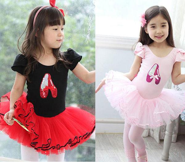 Girl-Party-Leotard-Shoes-Ballet-Costume-Tutu-Dress-3-8Y