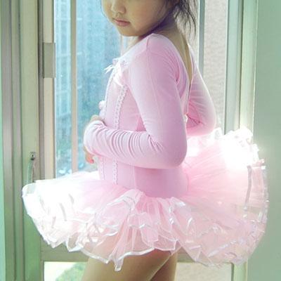 Pink-Dance-Leotard-Ballet-Tutu-Girl-Dress-SZ-3-4-5-6-7T