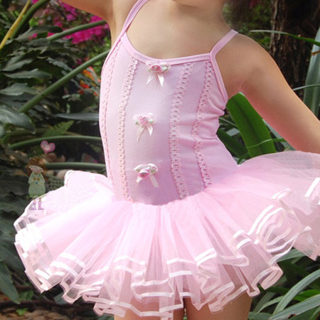 Girl-Pink-Ballet-Tutu-Leotard-Dance-Costume-Dress-2-6Y