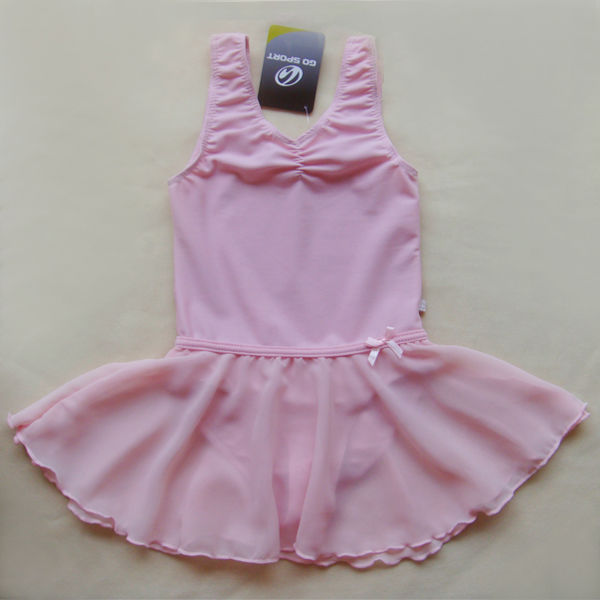 Girls-Pink-Fairy-Gym-Leotard-Ballet-Dance-Skirt-Skate-Costume-Tutu-Dress-2-14Y