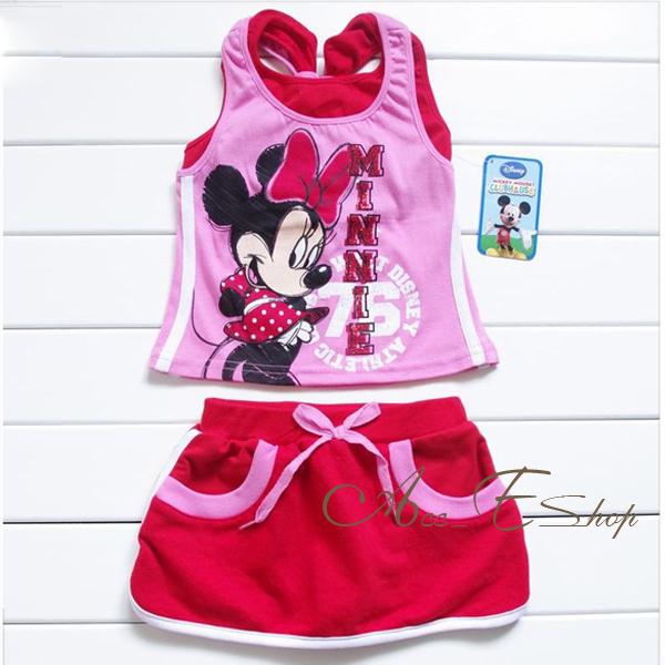 Girls-Disney-Minnie-Mouse-2-3-4-5-Sport-Tank-Top-T-Shirt-Dress-Skirt-outfit-NWT