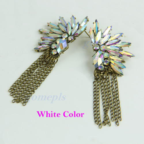 Vintage-Boho-Luxury-Colorful-Shiny-Crystal-Flower-Chain-Tassels-Ear-Stud-Earring