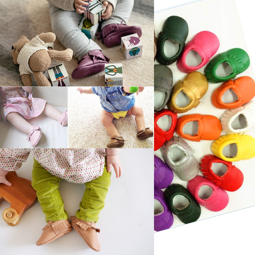 newborn spring baby soft sole leather shoes boy girl infant