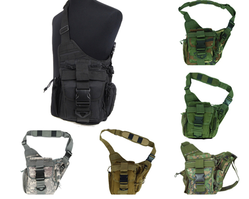 1000D Molle Tactical Utility 3 Ways Shoulder Bag Pouch Backpack 4 ...