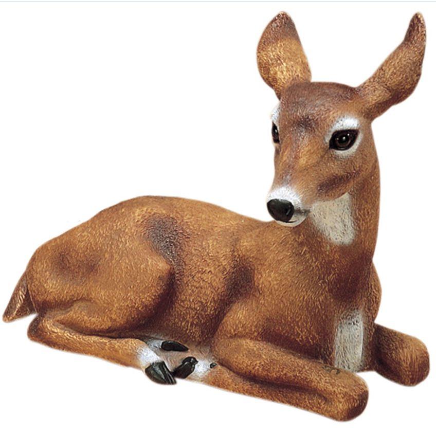 Garden Decor Deer: Doe Deer Garden Statue Outdoor Animal Lawn Yard Decor