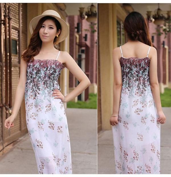 Шифоновое летнее платье.