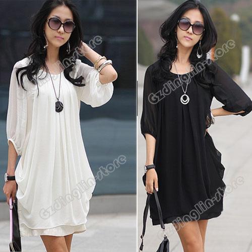 платье длинное с полу-рукавами белое.