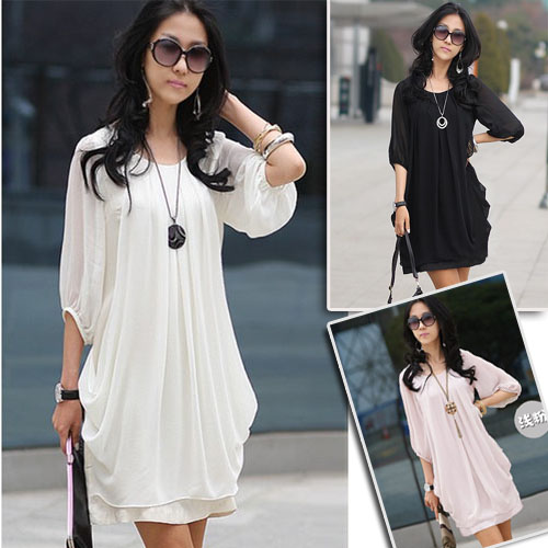 Graceful-Gentlewomanly-Chiffon-Sleeve-Mini-Dress-023