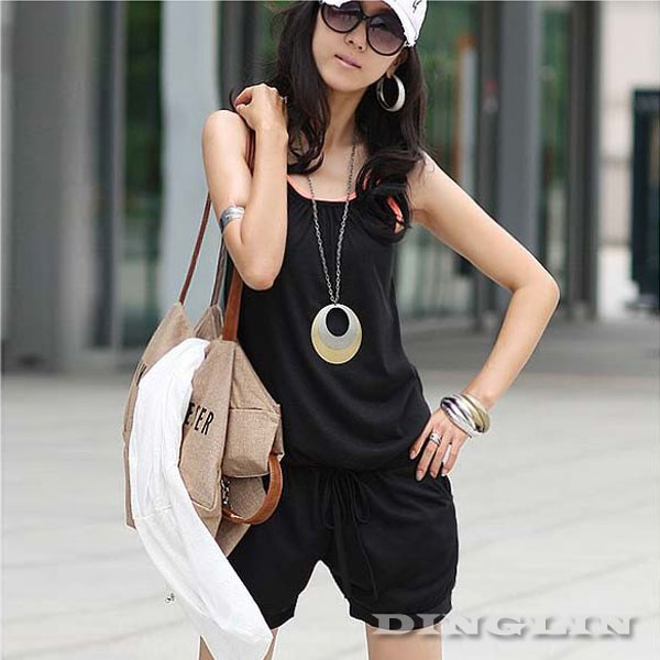 Summer Womens Lady Sleeveless Spaghetti Strap Casual Jumpsuit ...