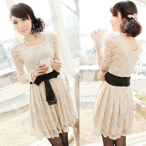 Womens-Sexy-Long-Sleeve-Corset-Bowknot-Cocktail-Evening-Lace-Mini-Dress-081